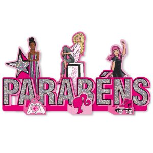 Enfeite Especial de Mesa Festa Barbie - 1 Unidade - Festcolor - Rizzo Embalagens