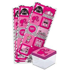 Adesivo Quadrado Festa Barbie - 30 Unidades - Festcolor - Rizzo Embalagens