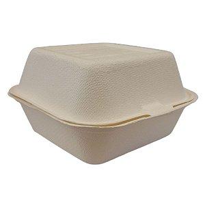 Embalagem para Lanche Hamburgueira Biodegradável 15x15x7,5cm - 5 Unidades - Rizzo