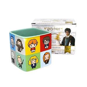 Caneca Quadrada Harry Potter Kids Personagens - 300ml - Harry Potter Original - 1 Un - Rizzo