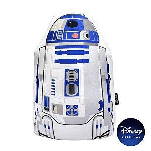 Almofada Microperolas Formato R2D2 Star Wars - 35cm - Disney Original - Zona Criativa - 1 Un - Rizzo