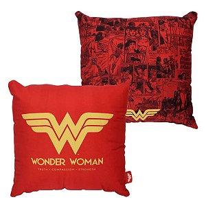 Almofada Mulher Maravilha Liga da Justiça - 40cm - DC Original - Zona Criativa - 1 Un - Rizzo