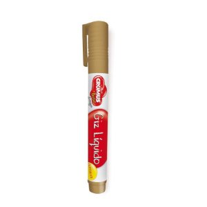 Caneta Giz Liquido Permanente Cor Ouro 01 Unidade - Cromus - Rizzo