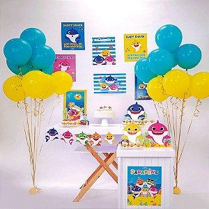 Kit Festa Fácil Festa Baby Shark Grande - 58pçs - 01 Unidade - Cromus - Rizzo Embalagens