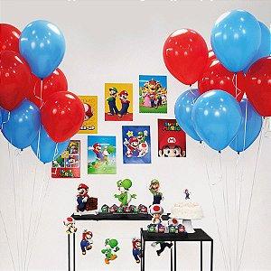 Kit Festa Fácil Festa Super Mario Grande - 58pçs - 01 Unidade - Cromus - Rizzo Embalagens