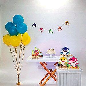 Kit Festa Fácil Festa Baby Shark Pequena - 40pçs - 01 Unidade - Cromus - Rizzo Embalagens
