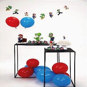 Kit Festa Fácil Festa Super Mario Pequena - 40pçs - 01 Unidade - Cromus - Rizzo Embalagens