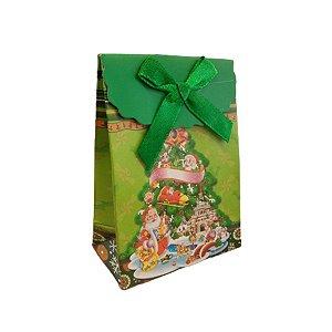 Mini Sacola Lembrancinha Verde Árvore de Natal - 10cm - 1 UN - Rizzo
