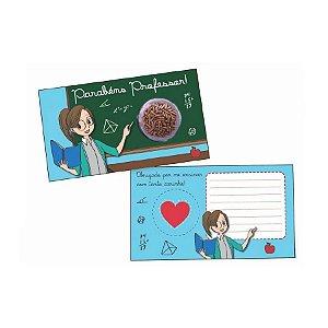 Cartão Blister Professor Coração - 10 UN - Erika Melkot - Rizzo