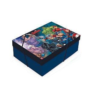 Caixa para Presente com Tampa - Avengers Ultimato - 01 unidade - Cromus - Rizzo Embalagens