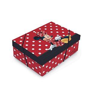 Caixa para Presente com Tampa  - Minnie Mouse Joy - 01 unidade - Cromus - Rizzo Embalagens