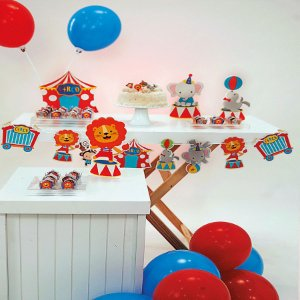 Kit Festa Fácil Festa Circo Pequena - 44pçs - 01 Unidade - Cromus - Rizzo Embalagens