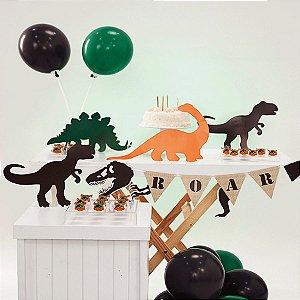 Kit Festa Fácil Festa Mundo dos Dinossauros Pequena - 44pçs - 01 Unidade - Cromus - Rizzo Embalagens