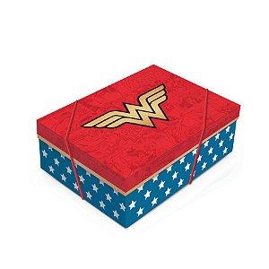 Caixa para Presente Tampa - Mulher Maravilha - 01 unidade - Cromus - Rizzo Embalagens