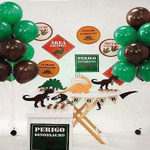 Kit Festa Fácil Festa Mundo dos Dinossauros Grande - 62pçs - 01 Unidade - Cromus - Rizzo Embalagens