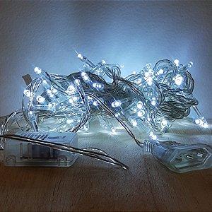 Cordão de LED Luz Branca com Fio Incolor 100 Leds 5m 127V - 1unidade - Cromus Natal - Rizzo