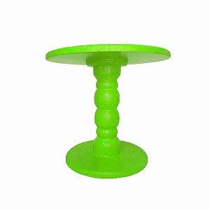 Boleira de Madeira - Verde Neon - 01 Unidade Rizzo Embalagens