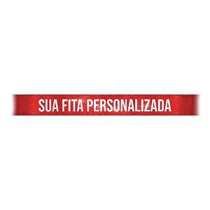 Fita de Cetim Personalizada CFS002 - 10mm X 45metros - Vermelho 209 - 01 Unidade - Progresso - Rizzo