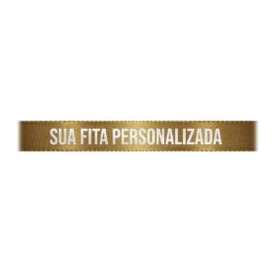 Fita de Cetim Personalizada CFS002 - 10mm X 45metros - Ouro 228 - 01 Unidade - Progresso - Rizzo