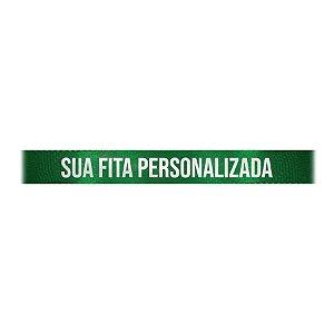 Fita de Cetim Personalizada CFS002 - 10mm X 45metros - Verde Bandeira 217 - 01 Unidade - Progresso - Rizzo