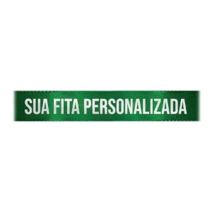 Fita de Cetim Personalizada CFS005 - 22mm X 45metros - Verde Bandeira 217 - 01 Unidade - Progresso - Rizzo