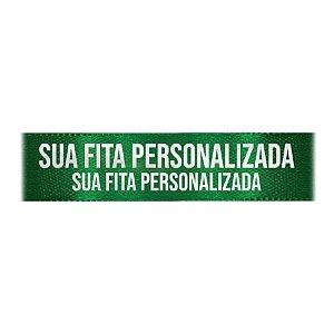 Fita de Cetim Personalizada CFS007 - 30mm X 45metros - Verde Bandeira 217 - 01 Unidade - Progresso - Rizzo