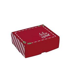 Caixa para Brigadeiros - Feliz Natal - 10 unidades - Cromus Natal - Rizzo