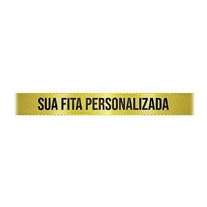 Fita de Cetim Personalizada CFS002 - 10mm X 45metros - Amarelo Canário 242 - 01 Unidade - Progresso - Rizzo