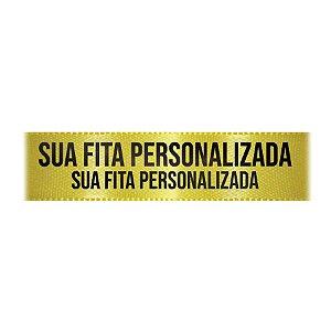 Fita de Cetim Personalizada CFS007 - 30mm X 45metros - Amarelo Canário 242 - 01 Unidade - Progresso - Rizzo