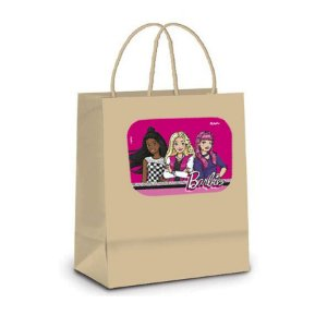Sacola de Papel Kraft P Festa Barbie - 10 unidades - Rizzo Embalagens
