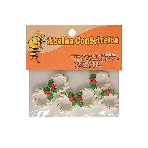 Mini Confeito Natal Guirlanda Branca - 6 UN - Abelha Confeiteira - Rizzo