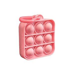 Chaveiro Lembrancinha Festa Pop It Quadrado Rosa 01 Unidade Rizzo Embalagens