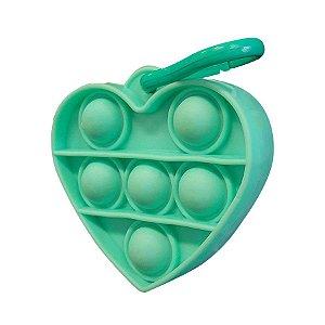 Chaveiro Lembrancinha Festa Pop It Coração Verde 01 Unidade Rizzo Embalagens