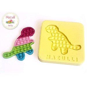 Molde de Silicone 2338 Festa Pop It Fidget Toy Dino - 01 Unidade - Mazulli - Rizzo Embalagens