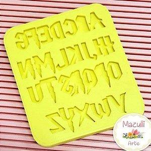 Molde de Silicone 2229 Alfabeto Harry Potter - 01 Unidade - Mazulli - Rizzo Embalagens