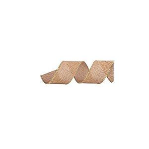 Fita Decorativa Natal Juta - Nude - 3,8x914cm - 1 UN - Cromus - Rizzo