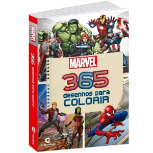 Livro 365 Desenhos Para Colorir Marvel - 01 Unidade - Culturama - Rizzo