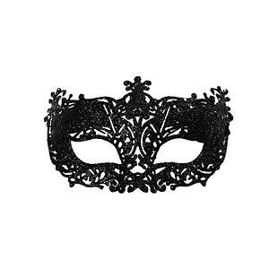 Fantasia Acessório Mascara Elegância Preta Festa Carnaval 01 Unidade Cromus Rizzo Embalagens