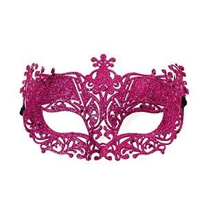 Fantasia Acessório Mascara Elegância Rosa Festa Carnaval 01 Unidade Cromus Rizzo Embalagens