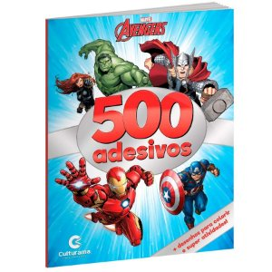 Livro 500 Adesivos Marvel Vingadores - 01 Unidade - Culturama - Rizzo