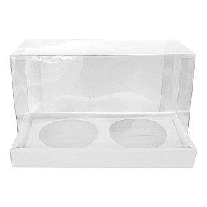 Caixa Panetone Duplo 100g Branco 9x16,5x12cm - 05 Unidades - ASSK - Rizzo