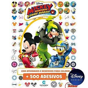 Livro 500 Adesivos Disney Mickey - 01 Unidade - Culturama - Rizzo
