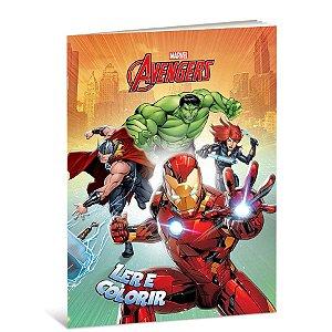 Livro Para Ler e Colorir Vingadores B - 01 Unidade - Culturama - Rizzo