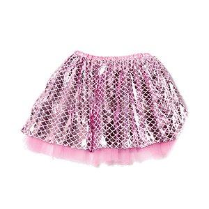 Saia Tute com Escamas Rosa Infantil Festa Carnaval 01 Unidade Cromus Rizzo Embalagens