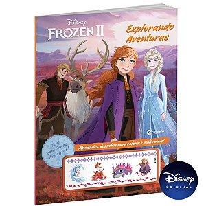 Livro Explorando Aventuras - Frozen 2 Com Tatuagens - 01 Unidade - Culturama - Rizzo
