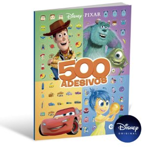 Livro 500 Adesivos Disney Pixar - 01 Unidade - Culturama - Rizzo