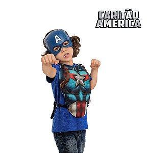 Fantasia Kit Vingadores Peitoral e Mascara Capitão América 02pçs 01 Unidade Regina Rizzo Embalagens