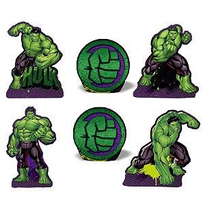 Kit Enfeite de Mesa Festa Hulk - 6 PÇs - 1 UN - Piffer - Rizzo
