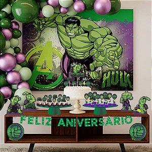 Kit Festa Fácil Hulk - 39 PÇs - 1 UN - Piffer - Rizzo
