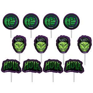 Palitos Decorativos P/ Doces Hulk - 12 PÇs - 1 UN - Piffer - Rizzo